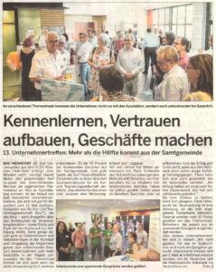Schaumburger Wochenblatt berichtet über das BNUT13
