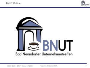 Rückblick 1. Online BNUT am 06.07.2020